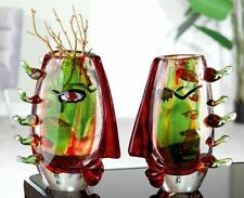 MASSIVE Luxurious Celebration to Picasso Art Glass Face Abstract Vase