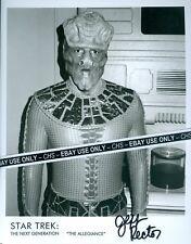 "JEFF RECTOR NICE SIGNED B&W 8x10 PHOTO ""STAR TREK: THE NEXT GENERATION"""