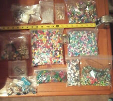 Misc. Arts And Crafts Supplies: Beads, Rings Etc. Aproximatly 3 Lbs.