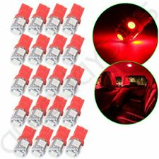 20x T10 W5W 194 168 Red 5SMD LED Instrument Cluster Dash Light Bulbs For Chevy