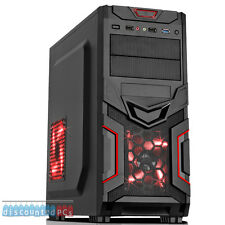ULTRA Veloce AMD Quad Core 8GB 1TB Desktop Gaming PC Computer HD Diavolo Rosso dp84