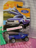 FORD F-150 pickup truck #8☆blue☆2018 Hot Wheels WALMART EXCLUSIVE FORD TRUCK