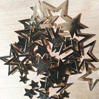 80 x stabil Metall Gold 13-43mm Metallsterne Tischdeko Sterne Streuen Dekoration