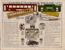 Rare 1920s Lionel Train, Transformer, Railroad Access. Std. and O Gauge Catalog