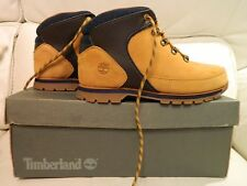 TIMBERLAND CALDERBROOK BOOTS TAN NUBUCK LEATHER UK 4.5 UNISEX BOYS WORN ONCE BOX