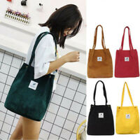 Women Durable Canvas Large Capacity Tote Bag Casual Handbag Shoulder Shopper SH