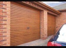 Gliderol golden oak single skin manual roller shutter garage door rosewood deal