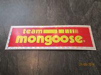 MONGOOSE BMX STICKER OLD SCHOOL BMX MONGOOSE TEAM BMX STICKER ORIGINAL 80S RARE