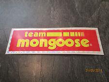 Mongoose BMX Sticker Vecchia Scuola Bmx Mongoose Team BMX ADESIVO ORIGINALE 80S RARA