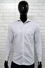 Camicia TOMMY HILFIGER Slim Fit Uomo Taglia Collo 15 Shirt Cotone Manica Lunga