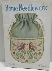 Vintage Home Needlework Magazine November 1915 Old Patterns 40 Pages