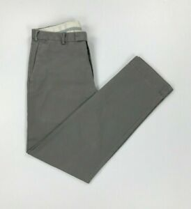 Men's Light Grey Polo Ralph Lauren Chinos W33 L32 Slim Fit Zip Fly Trousers A