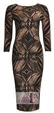 Unbranded Round Neck 3/4 Sleeve Midi Dresses for Women