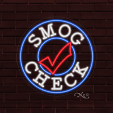 Brand New Smog Check Withlogo 26x26x1 Inch Led Flex Indoor Sign 31338