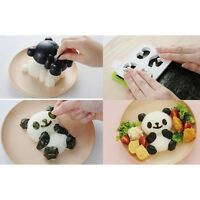 4 in 1 Bento Mold Rice Mold Onigiri Shaper and Dry Roasted Seaweed Cutter Set