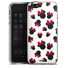 Apple iPhone 5 Silikon Hülle Case - Minnie Icon Pattern