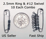 2.5mm Fly Leader Tippet Ring & #12 Mini Swivel COMBO Dry/Wet/Nymph Rig FREE SHIP