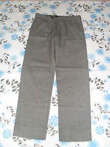 Giorgio Cavalli size 32 Aus Eur 48 mens grey black fleck 100% wool pants in VGC