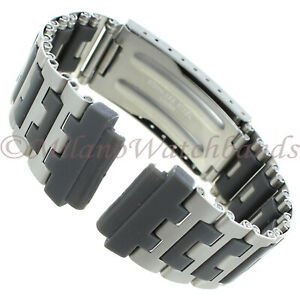 19mm Timex Fits Casio Center Clasp Adjustable Stainless Mens Sport Band TX429C