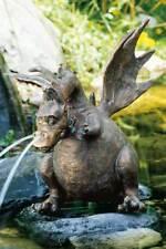 Rottenecker Bronzefigur Wasserspeier Drache Drusilla klein 18cm Wasserspiel