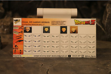 custom eyes stickers for s.h.figuarts dragon ball z  eyes stickers trunks armor