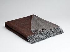 Large Mcnutt Rosewood Reversible Blanket Throw - Made in Ireland 100% Wool