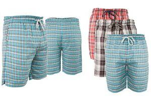 Men's Woven Cotton Shorts Casual Shorts Elasticated Waist Lounge Look