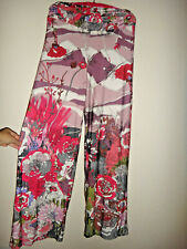 RARE Karamel Collection Polyester Pants Fold Over Groovy Colors No Size Maui