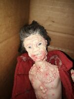 Creepy Scary OOAK Horror Doll Zombie Apocalypse Plague Custom Bloody Gore