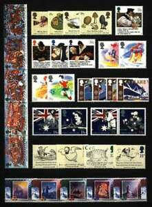 GB QEII YEAR 1987 COMPLETE FOR COMMEMORATIVE SETS, U/MINT, AT FACE