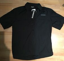 **Brand New** Shimano Vented Short Sleeve Black Fishing Shirt UPF30+ Size:S