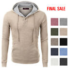 [FINAL SALE]Doublju Mens Long Sleeve Pullover Fashion Hoodie