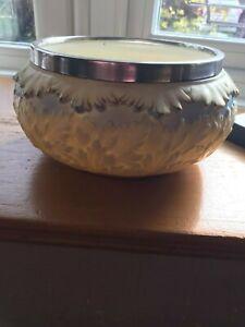 """Locke & Co Worcester Leaf Design Silver Rimmed  Bowl  12"""" Excellent Condition"""