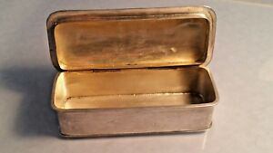 1902 Edwardian silver oblong box with unusual frill edged top