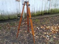 "Vintage Ries Model C TRI-LOK Tripod 32""  58"" Extension Camera Survey Orignal Bag"