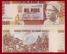 Guinea-Bissau P13b, 1000 Pesos, Cabral / nude allegory, 1993 UNC  See UV image