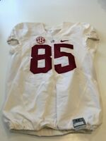 Game Worn Used 2016 Alabama Crimson Tide Bama Football Jersey Nike Size 46 #85