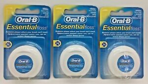 Oral B Essential Dental Floss Original Unwaxed  X3
