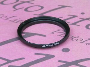 43mm to 46mm Stepping Step Up Filter Ring Adapter 43mm-46mm