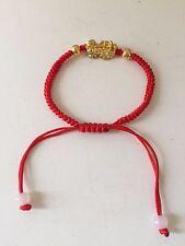 FENG SHUI RED STRING BRACELET WITH LITTLE GOLDEN PI YAO XIA XIE XIU