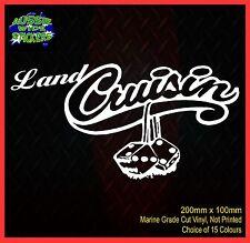 LANDCRUISER CRUISIN prado 80 120 150 series Funny 4x4 Car Stickers 200mm