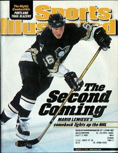 SPORTS ILLUSTRATED MARIO LEMIEUX March 12, 2001 Penguins 3/12/01' HOF