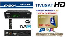 Decoder Edision Picco S2 Wifi integrato con CARD TV SAT HD nuova da attivare