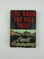 FOR WHOM THE BELL TOLLS - Ernest Hemingway First Edition Book Club HBDJ
