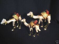 Lovely Enamel Coloured Group Camel Pewter Jewelry Boxes