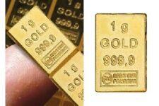 Valcambi Combibar™ - 1 Gramm Goldbarren aus Goldbarren-Verbund - Prägefrisch