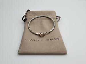 David Yurman Petite Wheaton Bracelet with Morganite and Diamonds 3mm Small