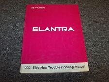 2004 Hyundai Elantra Sedan Electrical Wiring Diagram Manual Book GLS GT 2.0L