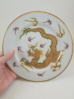 Vintage Dragonware dessert plates set of 2 Moriage Golden Dragon Japanese Mark