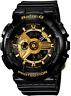 Casio Baby G-Shock BA110-1A Analog Digtal Black Resin 46.3mm Watch